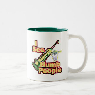 I See Numb People Two-Tone Coffee Mug