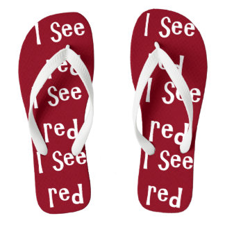 I see red flip flops by DAL