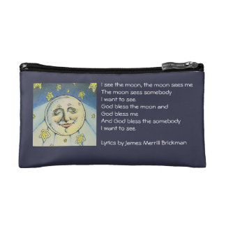 I See The Moon Small, Zippered Bag Cosmetic Bag