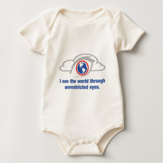 I See The World Through Unrestricted Eyes Baby Bodysuit