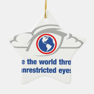 I See The World Through Unrestricted Eyes Ceramic Star Ornament
