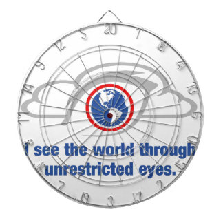I See The World Through Unrestricted Eyes Dartboard