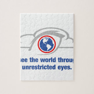 I See The World Through Unrestricted Eyes Jigsaw Puzzle