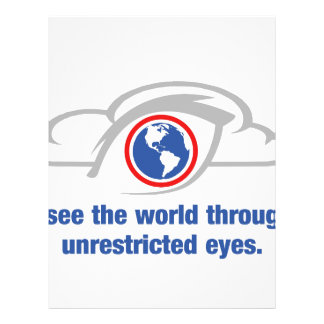 I See The World Through Unrestricted Eyes Letterhead