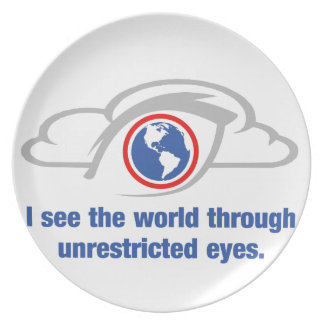 I See The World Through Unrestricted Eyes Plate