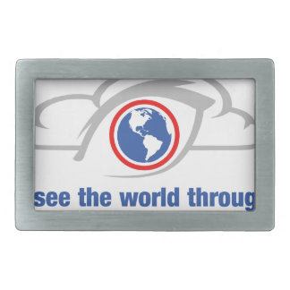 I See The World Through Unrestricted Eyes Rectangular Belt Buckle