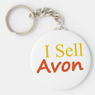 I-Sell-Avon-White Background Basic Round Button Keychain