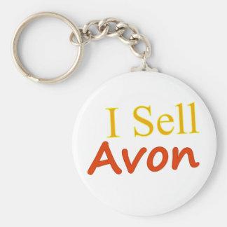 I-Sell-Avon-White Background Key Chain