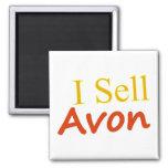 I-Sell-Avon-White Background Square Magnet
