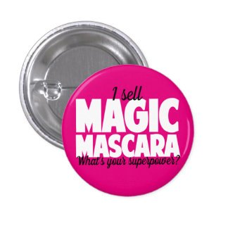 I sell Magic Mascara - Younique 1 Inch Round Button