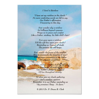 """I Send A Rainbow"" Matte Card"