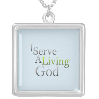 I Serve Silver Plated Necklace