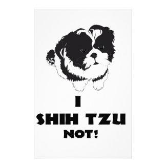 i shah futz not design stationery paper