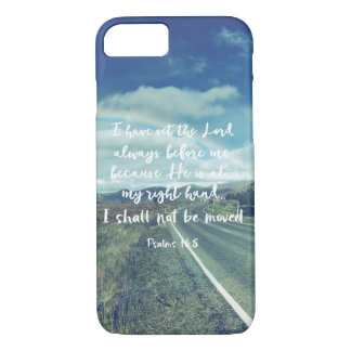 I shall not be moved Psalms Bible Verse iPhone 8/7 Case