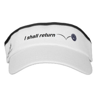 I Shall Return Indoor Pickleball Visor