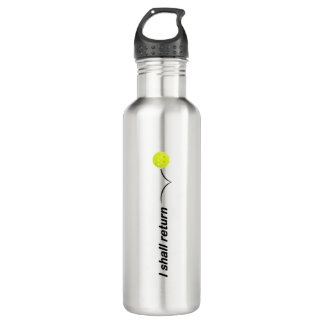 I Shall Return Outdoor Pickleball Water Bottle