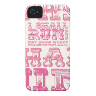 I Shall Run and Not Grow Weary Typography iPhone 4 Case-Mate Cases