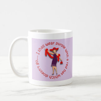 I shall wear purple... coffee mug