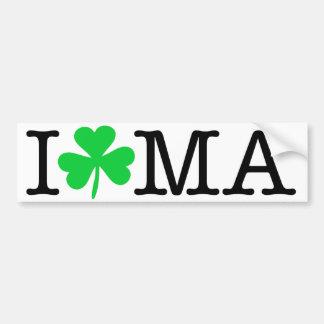 I shamrock (coeur d'amour) mA le Massachusetts Autocollant De Voiture