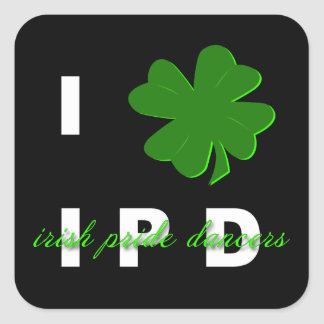 I Shamrock IPD Sticker Square
