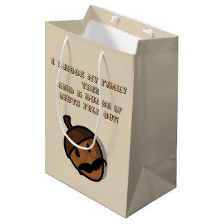I Shook My Family Tree Humorous Gift Medium Gift Bag