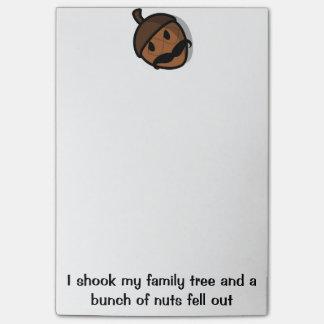 I shook my family tree post it notes