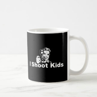 I Shoot Kids Black Coffee Mug
