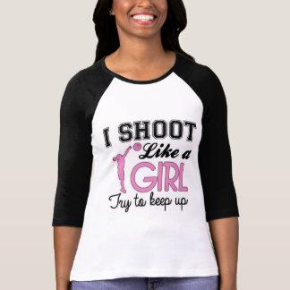 I shoot like a girl t-shirt
