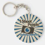 I Shoot People Basic Round Button Keychain