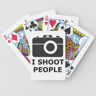 I Shoot People Bicycle Playing Cards