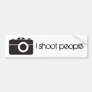 I shoot people bumper sticker