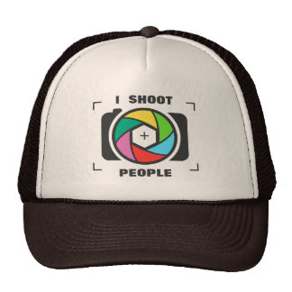 I Shoot People - Colorful Camera Shutter Fun Trucker Hat