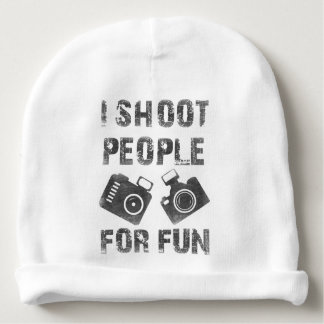 I shoot people for fun baby beanie