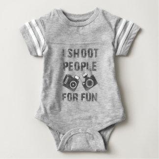 I shoot people for fun baby bodysuit