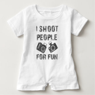 I shoot people for fun baby romper
