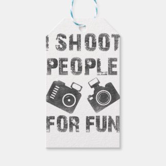 I shoot people for fun gift tags