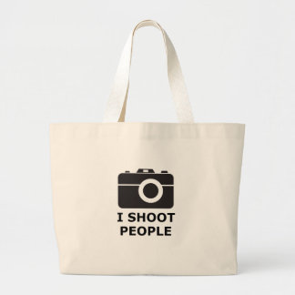I Shoot People Large Tote Bag