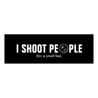 I shoot people - Metallic Paper (photography) Pack Of Skinny Business Cards