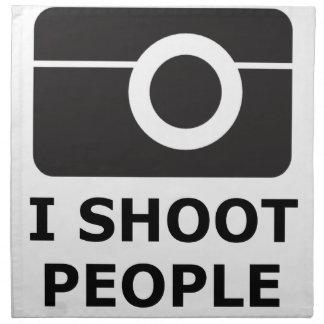 I Shoot People Napkin