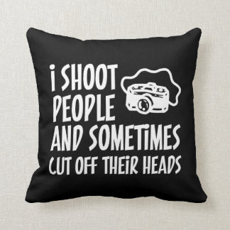 I Shoot People Photographer Humor Throw Pillow