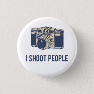 I Shoot People Photography Camera 1 Inch Round Button