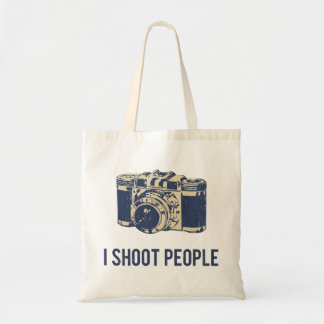 I Shoot People Photography Camera Budget Tote Bag