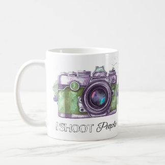 I shoot people, photography gift mug