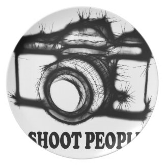 I shoot people plate