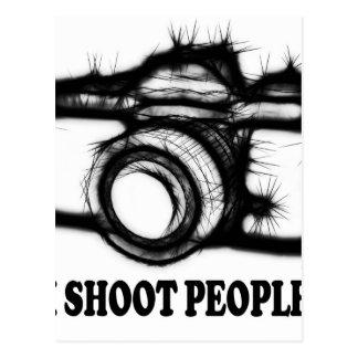 I shoot people postcard