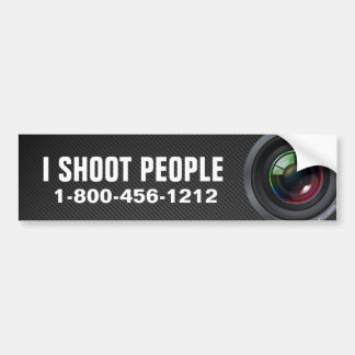 I shoot people - Professional Photographer Bumper Sticker