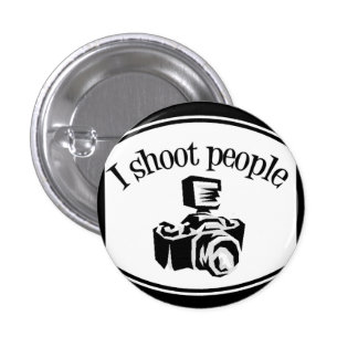 I Shoot People Retro Photographer s Camera B W Pins