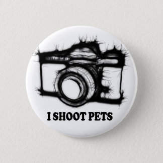 I shoot pets 2 inch round button