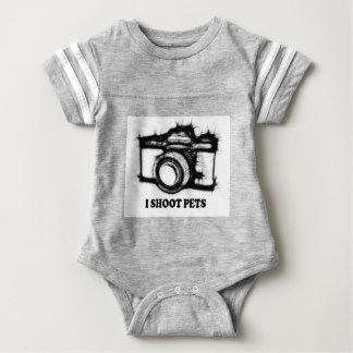 I shoot pets baby bodysuit