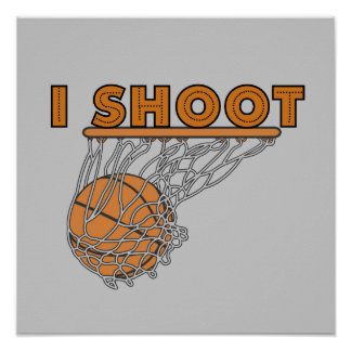 I Shoot T-shirts and Gifts Poster
